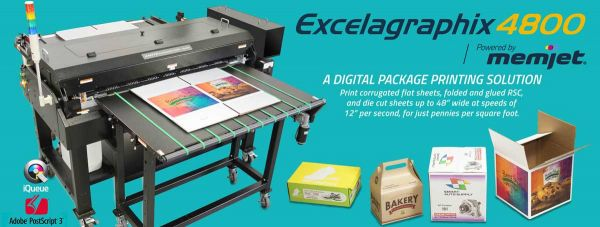 Single Pass Inkjet Digitaldrucker Exelagraphix 4800